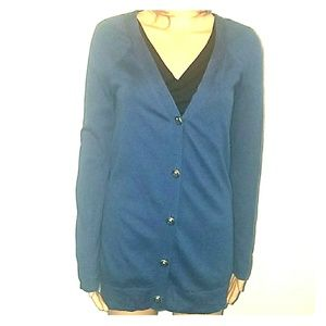 Juicy Couture navy gold buttons cardigan